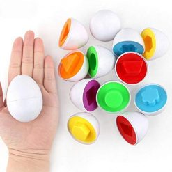 Legros8 6Pcs Kids Infant Toddler Simulation Eggs Color Shape Matching Egg Set Educational Development Puzzle Toy Pegged Puzzles Toy Kids Education Toy for Kids Boys Girls Pegged Puzzles