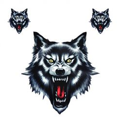 Vinyl Wolf Head Decals Waterproof Funny Self-adhesive Sticker for Motorcycle Motorbike Car Door Stickers Truck Helmet Decor