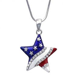 Idomeo Women Jewelry Fashion Rhinestone Star Heart Pendant Necklace Earrings Drop & Dangle