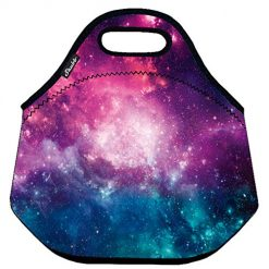 Shubb Lunch Bags, Insulated Lunch Bag, Neoprene Lunch Tote Boxes for Women, Girls, Kids - Purple Galaxy