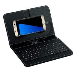 Idomeo Portable General Wired Flip-cover Phone Keyboard Holster For Android OTG Phone Flip Cases