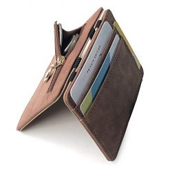Erholi Men Casual Creative Portable Multi-layered Square Short Purse Wallets, Card Cases & Money Organizers