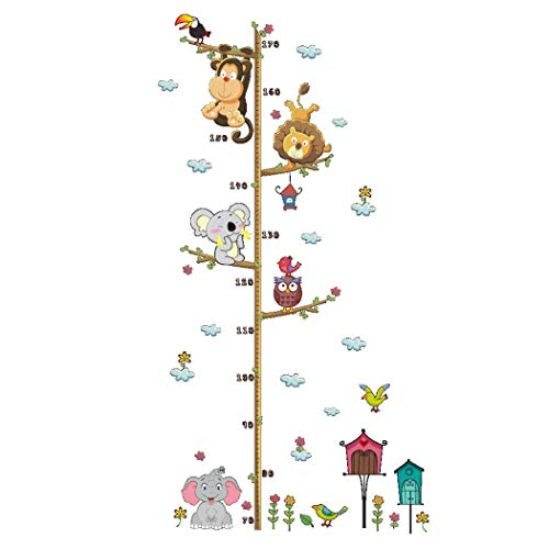 Ladiy Cute Cartoon Self-Adhesive Children Height Sticker Wall Sticker Home Decoration Wall Stickers