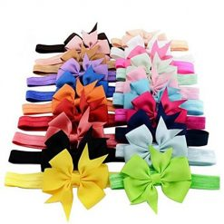 Iekofo Baby Girls Headbands Turban Baby Girl Headbands and Bows, Newborn Infant Toddler Hair Accessories, 10 Pieces