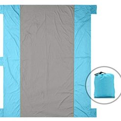 ZERLA Large Outdoor Blanket with Durable Nylon - Huge Beach Mat with Four Anchor