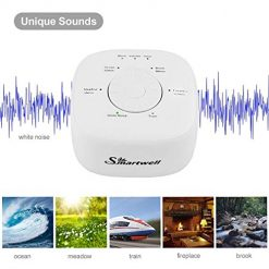 DOUDING White Noise Sound Machine, 6 Natural and Therapeutic Sounds for Sleeping & Relaxation, High Fidelity Sleep Sound Machine with Sleep Timer - Suitable Baby Kids Adults