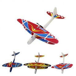 Pesters Hand Launch Throwing Gliding Biplane Inertial Foam Toy Plane Model Outdoor Toy Airplane Construction Kits