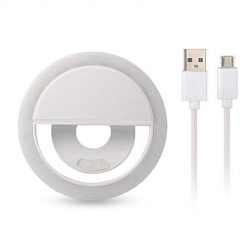 Idomeo Portable USB Charge LED Camera Phone Photography Selfie Ring Light On-Camera Video Lights