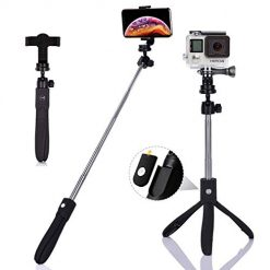 Selfie Stick, SNIDE Extendable Selfie Stick Tripod with Detachable Wireless Remote and Tripod Stand for iPhone X/iPhone 8/8 Plus/iPhone 7/7 Plus, Galaxy S9/S9 Plus/S8/S8 Plus/Note8, Huawei, More