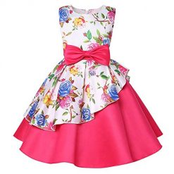 Girls Unicorn Dresses for Girl Maxi Costumes Kids Party Wedding Prom Ball Gown