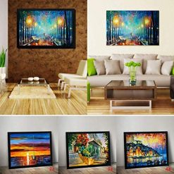 erholi Beautiful Frameless Colorful Painting Printed Oil Painting Home Decorations Paintings
