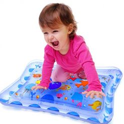 Inflatable Tummy Time Water Mat Infants Fun Activity Play Center Baby Toys for Ages 3 Months and up
