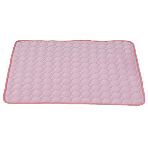 Caiuet Pets Humanity Summer Solid Pattern Comfortable Soft Cool Pet Mat Beds