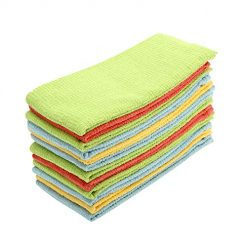 Kitchen Towels (12 Pack, 16 x 28 Inch) Cotton - Super Absorbent Dish Towels - Scrubbing Dishcloths Sets - Highly Absorbent Low Lint - Multi Purpose Tea Towels, Bar Towels