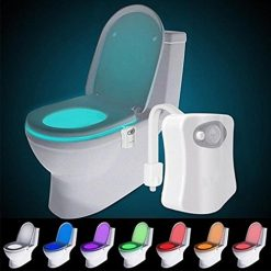 Idomeo 16 Colors LED Motion Activated Sensor Automatic Toilet Bowl Night Light New Night Lights