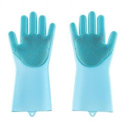 Neneleo Home Kitchen Silicone Cleaning Dishwashing Gloves Latex Gloves