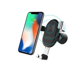 Wireless Charger Car Mount, 10W Fast Wireless Car Charger Compatible All Cars, Adjustable Gravity Air Vent Phone Holder for Samsung Galaxy S9 S9 Plus S8 S7/S7 Edge & iPhone X 8/8 Plus