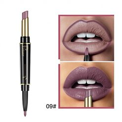 Ladiy Natural Double Ended Rotate Lasting Matte Waterproof Lip Liner Lipstick Pencil Lip Liners