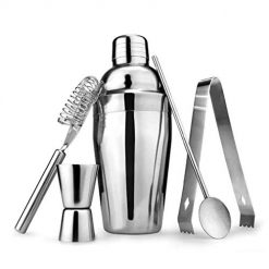 Beteral 550ML Cocktail Shaker Set 5pcs Cocktail Snow Kettle Pot Bartending Tool Ice Crushers