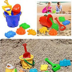 Iekofo + New Kids Children 7pcs Shovel Bucket Tool Summer Beach Toy Set Beach Toys