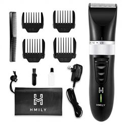 Hair Clippers for Men Professional, Cordless Beard Trimmer Rechargeble Hair Buzzer, Quiet Kids Haircut Kit with 4 Guide Combs, Electric Barber Cutting Kit for Home and Salons