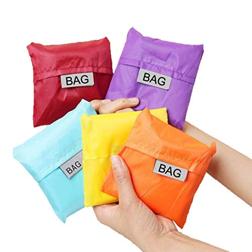Ladiy Folding Square Shopping Bag Convenient Solid Big Capacity Reusable Grocery Bags