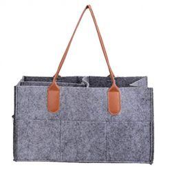 Foshin Portable Multifunction Multi-pocket Toiletries Cosmetics Felt Storage Bag Shoulder Bags