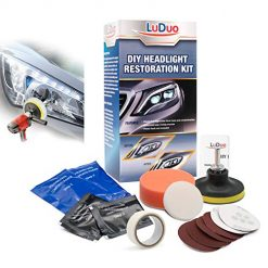LuDuo DIY Headlight Restoration Polishing Kit Clean,Headlamp Paste Systems Car Care Wash Head Lamp Brightener Repair Auto Accessories