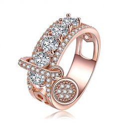 Adoeve New Women Fashion Casual Artificial Gem Jewelry Charm Wedding Ring Rings