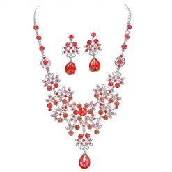 Caiuet Women Necklace Earrings Set Elegant Korean-Style Bridal Jewellery Accessory Jewelry Sets