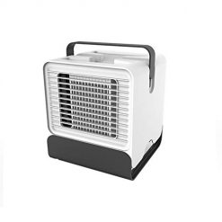 Caiuet Air Conditioner Personal USB Air Cooler Mini Air Purifier Humidifier with LED Lights, Air Cooler Desk Fan Cooling with Portable Handle for Home Room Office