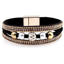 Pagacat Women Fashion Artificial Gem Bangle Bracelet Charm Wristband Bracelets
