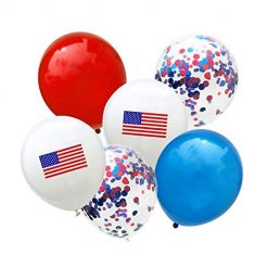 Baorin American Independence Day Balloon Set Emulsion Decorative Balloon Balloons Festival Party Home Decoration