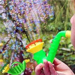 Baorin Children Water Blowing Toy Horn Shape Bubble Blowing Toy Kids Gifts Color Random Learning & Education Color Random