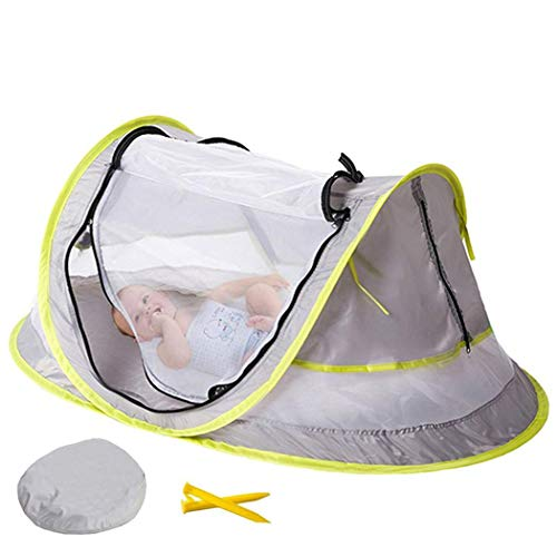 Queind 108cm x 65cm x 50cm UV Resistant Baby Mosquito Net Folding Child Shade Tent Family Camping Tents