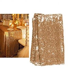 Feriay Wedding Table Cloth Glitter Sequin Tablecloth Party Engagement Decoration Tablecloths