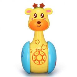 Ladiy Baby Musical Toys Giraffe Tumbler Toys with Lights Music Early Educational Toy