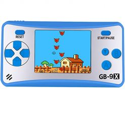 AOKLEE Portable Handheld Game for Kids Adults Preloaded 168 Classic Retro with 2.5'' Color 3.5 MM Headphone Jack and TV Output Display Seniors Handheld Games (Blue)