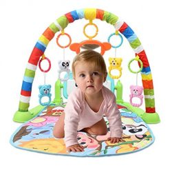 Lioder Unisex Baby Musical Fitness Rack Toys Musical Educational Play Mat Games