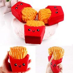 Queind French Fries Bread Shape Soft Slow Rising Squishy Toys Stress Relief Gift Gag Toys & Practical Jokes
