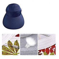 Idomeo Fashion Print Breathable Fastening Tape Sunscreen Sun Hats Navy Blue 2