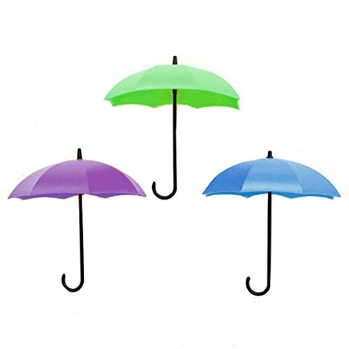 Mandii Umbrella Wall Hooks Decoration Hanger Key Rack Holder Bathroom Kitchen Organizer Utility Hooks