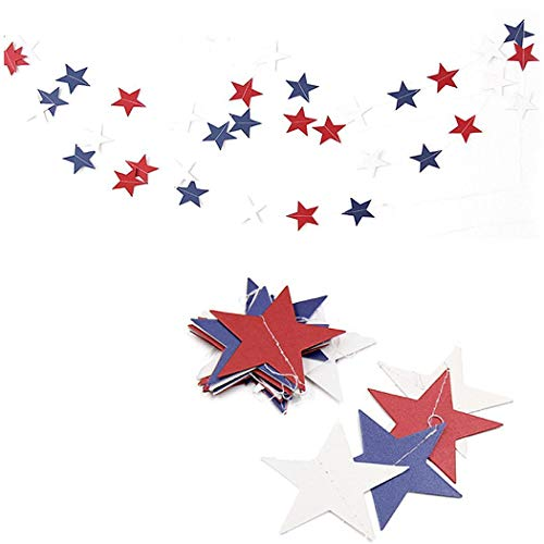 Queind Colorful Star Shape String Banner Hanging Flag Ornament Party Home Decor Decorations