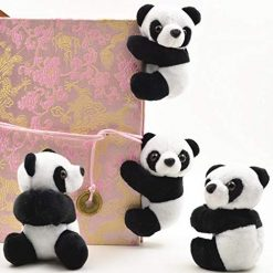 Asatr Panda Note Clip Chinese Style Cute Plush Toys Bookmarks Notes Clip Stuffed Animals & Teddy Bears