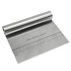 Adoeve New Kitchen Stainless Steel Cutting Knife Flour Scraper Baking Tool with Scale Pastry Brushes