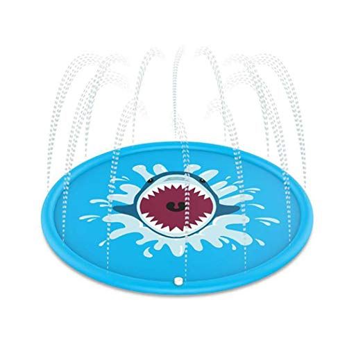 Lioder Sprinkle and Splash Play Mat,Outdoor Summer Water Pad Toy Swimming Party Gift for Kids Children Infants Toddlers Boys Girls Blue