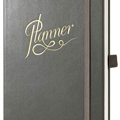 "2019-2020 Planner - Academic Weekly, Monthly and Yearly Planner with Monthly Tabs & Pen Loop, July 2019 - June 2020, Thick Paper, 79 Note Pages, Inner Pocket, 5.75"" x 8.25"", Gray"