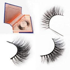 3D Mink False Eyelashes High Volume Cruelty-free Fur Hand-Made Dramatic Thick Crisscross Deluxe False Lashes Black Nature Fluffy Long Soft Reusable 078