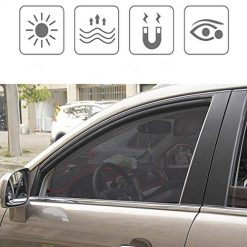 Erholi Car Front Back Sun Visors Windshield Sunshade Block Cover