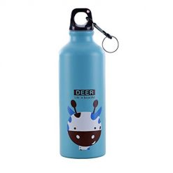 Caiuet 500mL Cartoon Animal Pattern Aluminum Alloy Thermos Cup Water Bottle Travel Insulated Tumblers